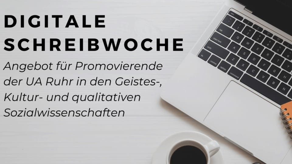 Angebot für Promovierende: Digitale KWI Schreibwoche