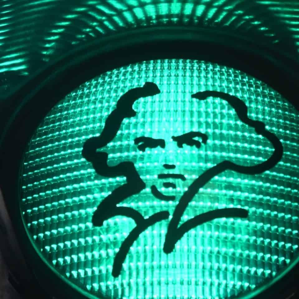 Beethovenampel in Bonn. © Bundesstadt Bonn