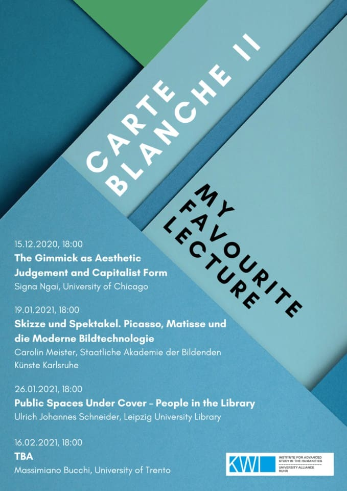 Carte Blanche II: My Favourite Lecture – New Virtual Lecture Series this Winter