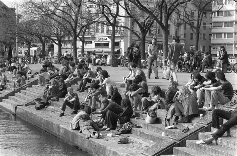 Zurich's first open drug scene: the Riviera (photo: Keystone).